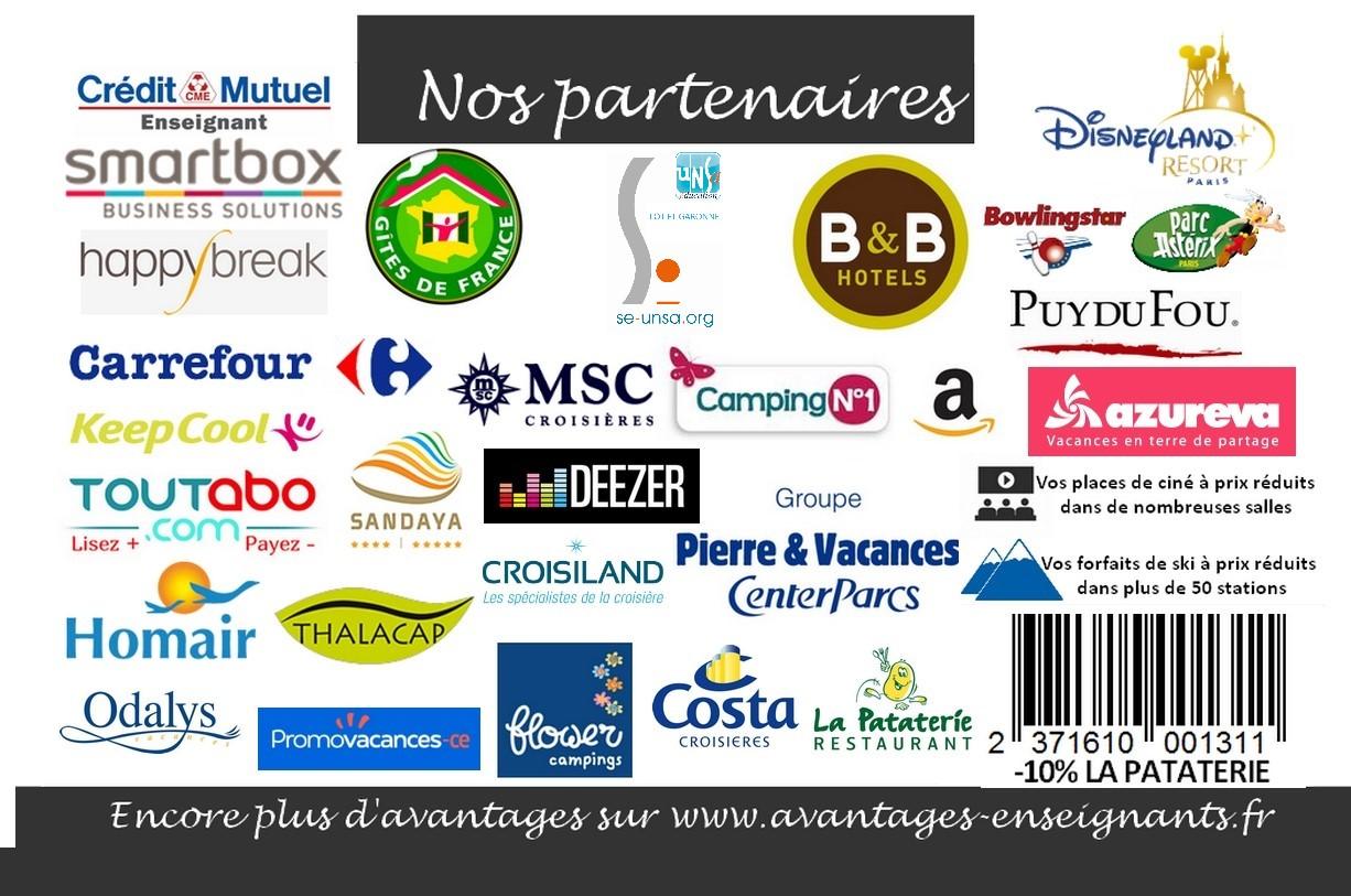 LE SE UNSA 47 Offre A Tous Ses Adherents Jour De Cotisation La Carte Avantages Enseignants