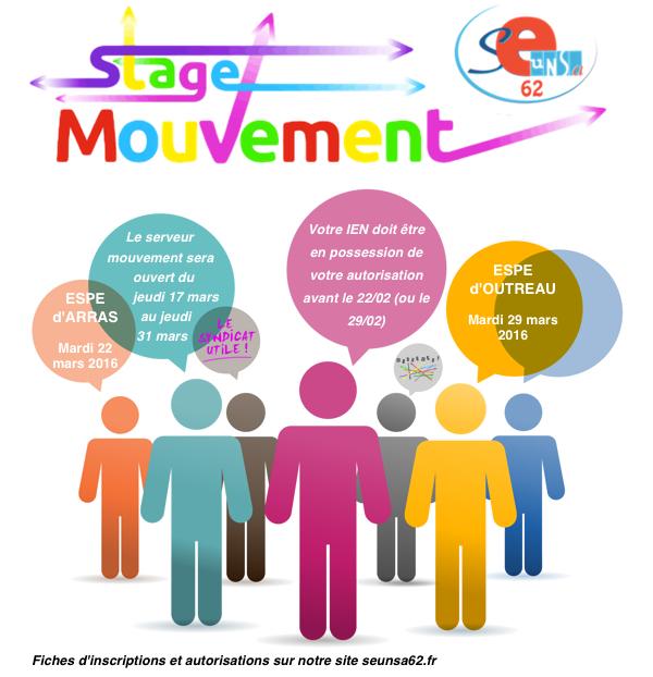 Stages mouvement les 22 et 29 mars, cliquez ici pour plus d'informations