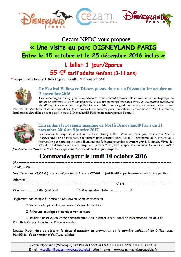 Carte Cezam Srias.Se Unsa 62 News Srias Disneyland Paris