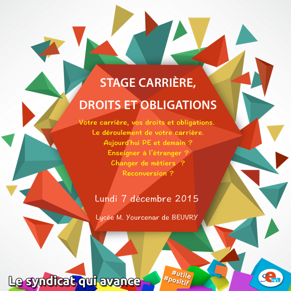 Stage Carrière, droits et obligations